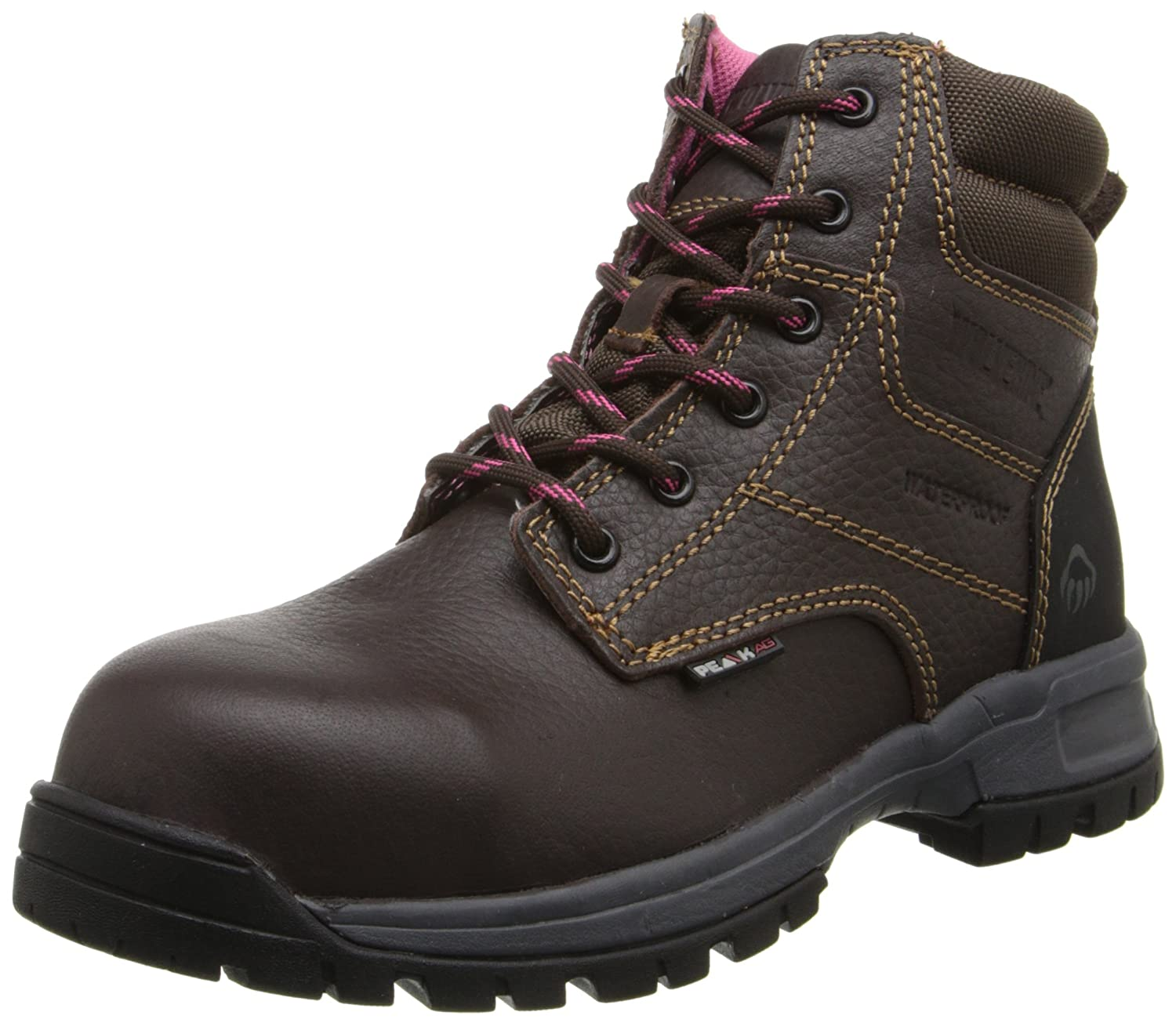 Wolverine Women's Piper Comp-Toe Work Boot B009ZSXDKC 7 W US|Brown