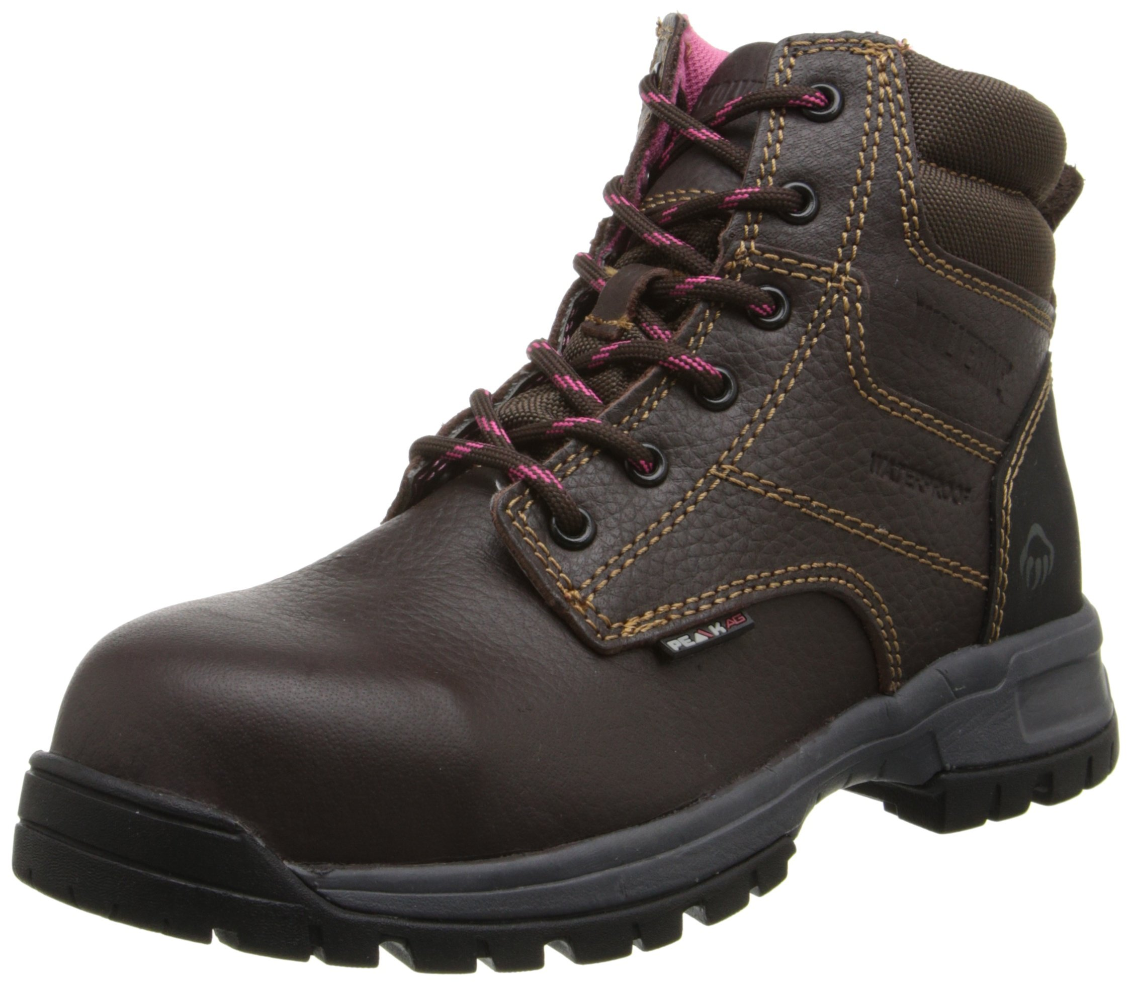 Wolverine Women's W10180 Piper Safety Toe Work Boot, Brown, 7.5 M US