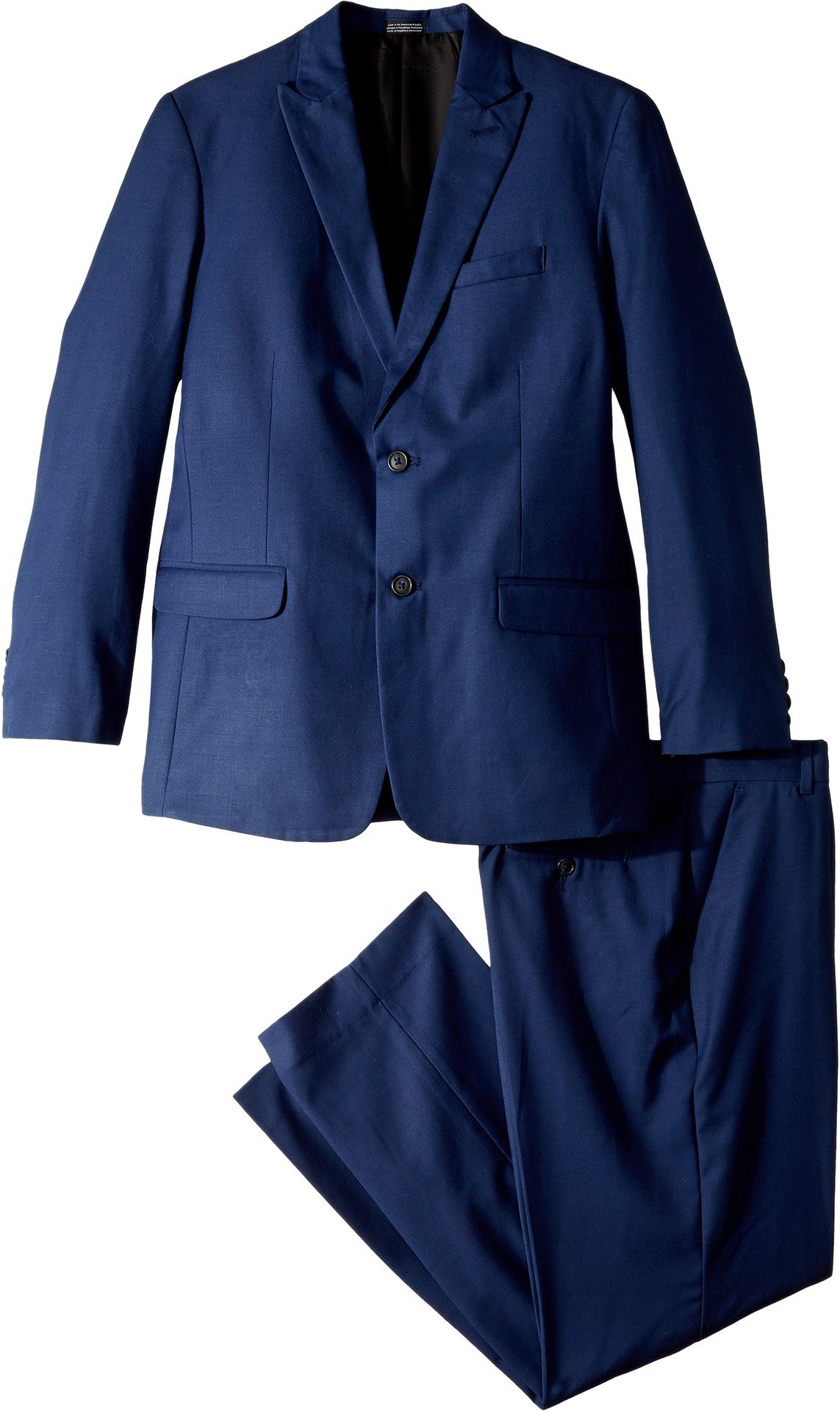 Calvin Klein Husky Boys' Two Piece Infinite Blue Suit, Bright Blue, 18H by Calvin Klein