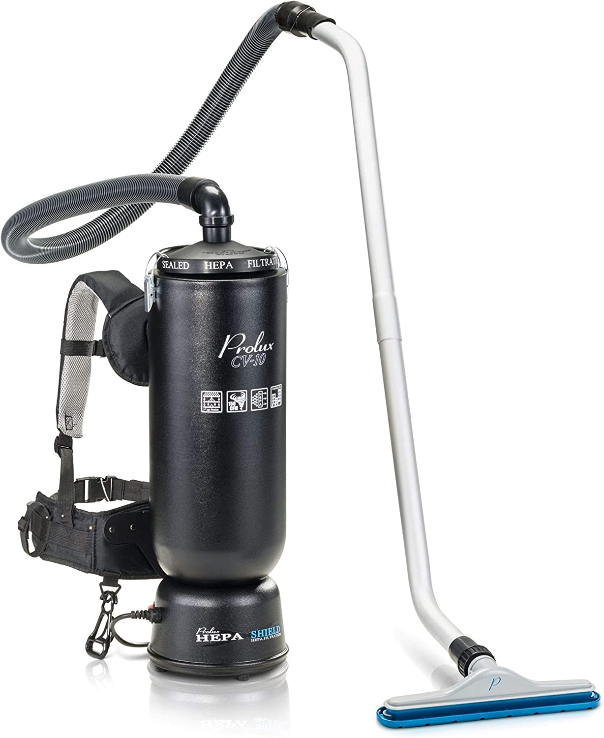 Prolux 10 Quart Commercial Backpack Vacuum with 2 Year Warranty