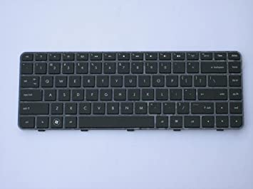 Amazon.com: LotFancy Black Backlit keyboard with Frame for HP ...