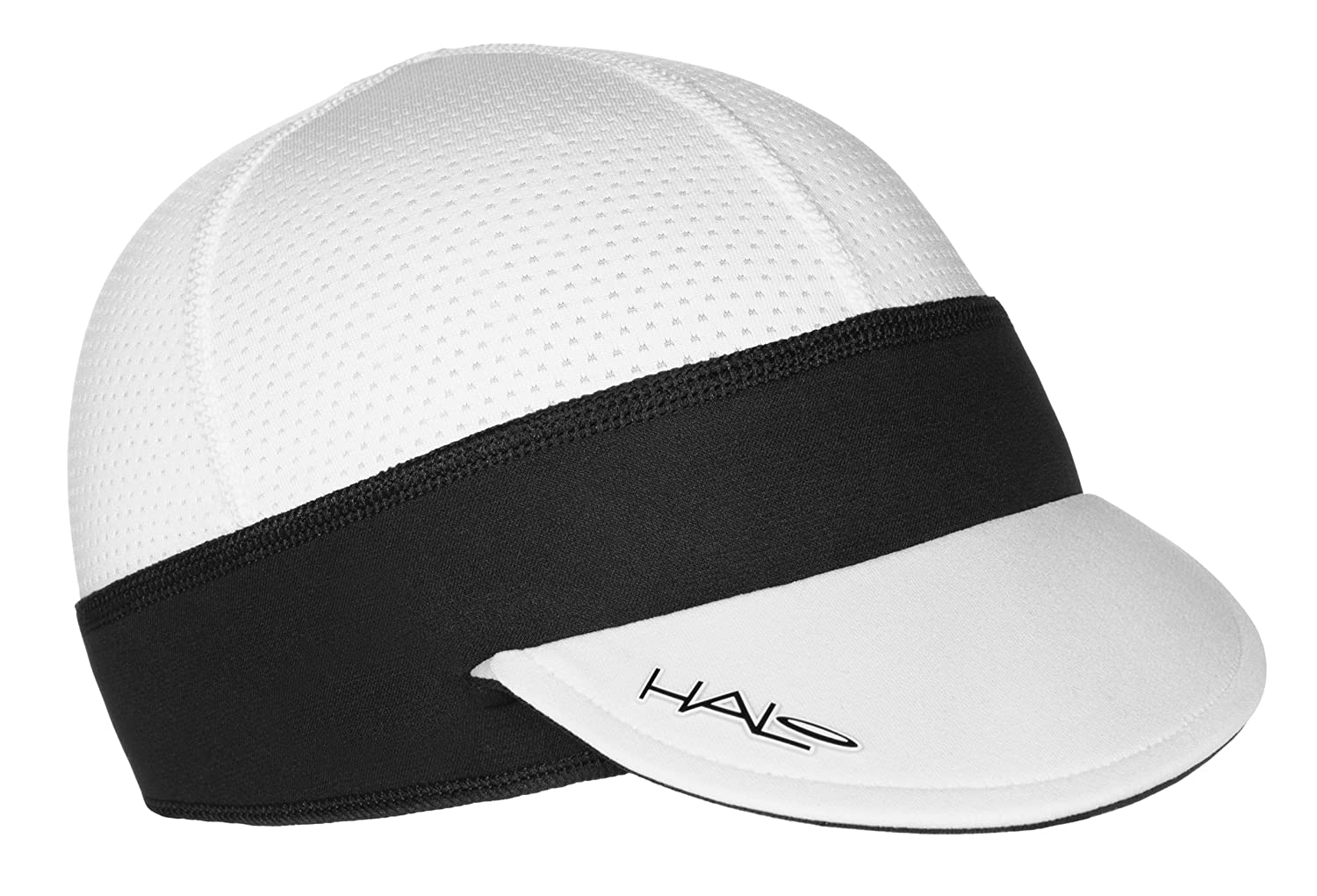 Halo Headbands Black Cycling Skull Cap with Visor HCCBLACK