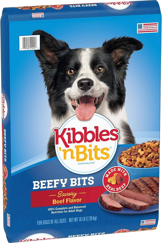 Kibbles 'N Bits 'N Beefy Bits Savory Beef Flavor Dry Dog Food, 16-Pound