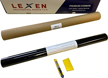 20/% Dark Shade LEXEN 2PLY 24 x 10 Premium Carbon Window Tint Film Roll