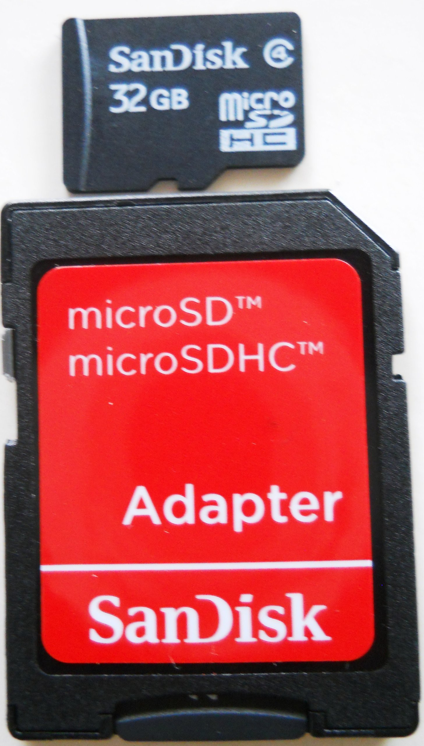 SanDisk 32GB microSDHC Card w/ SD & miniSD Adapter (SDSDQ-032G-2ADP)