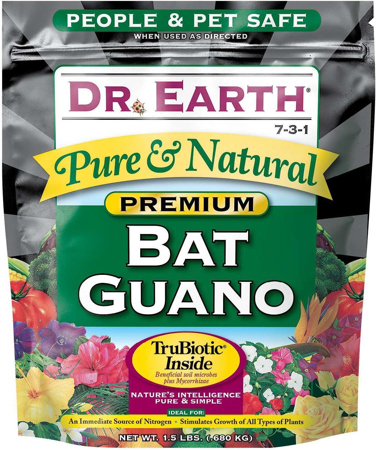 1 LB Bat Guano SOIL AMENDMENT ORGANIC FERTILIZER GARDEN NO ODOR Vegetarian GROW
