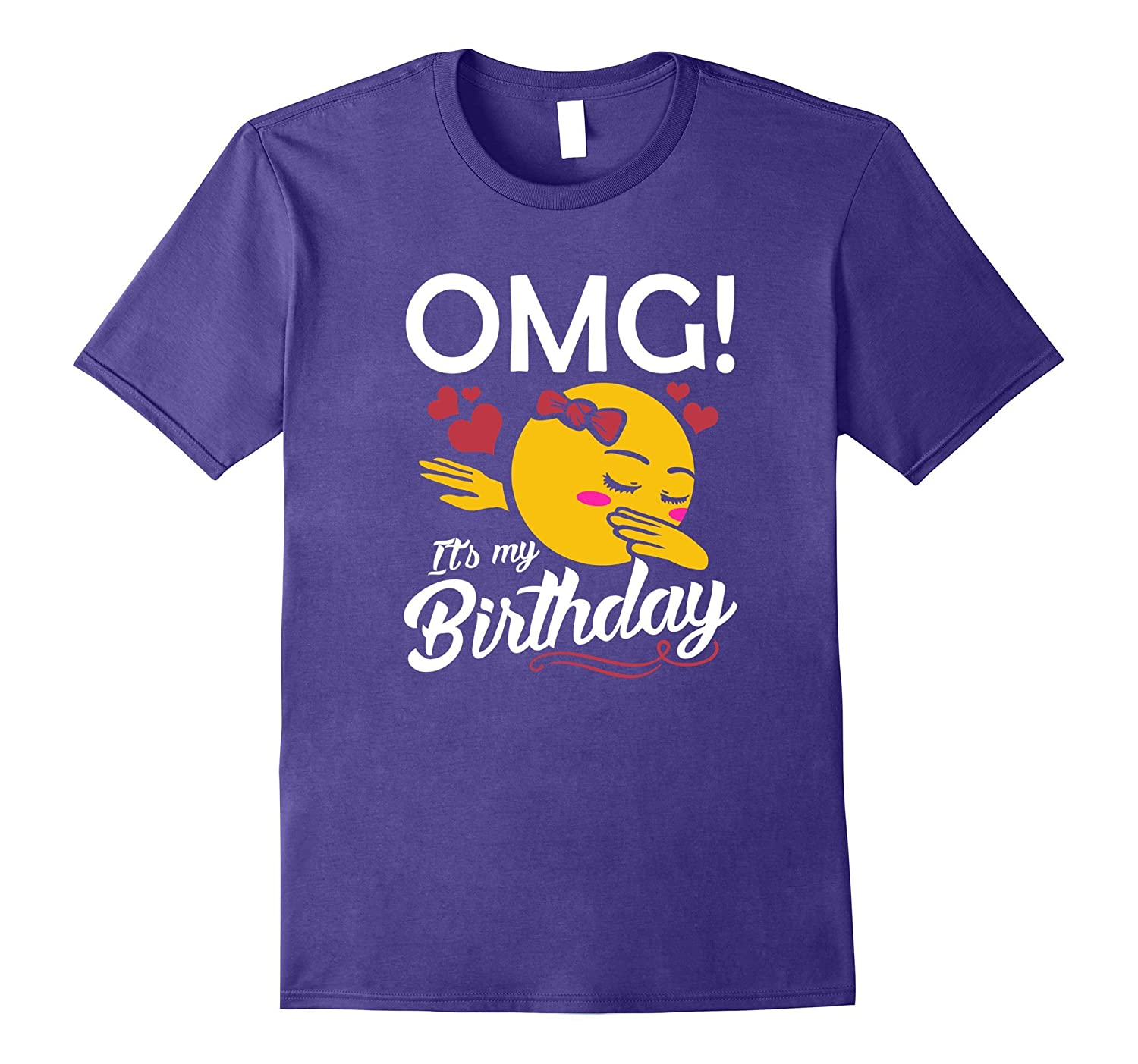 OMG Its My Birthday Emoji Dabbing Shirt Gift For Kids Girls ANZ