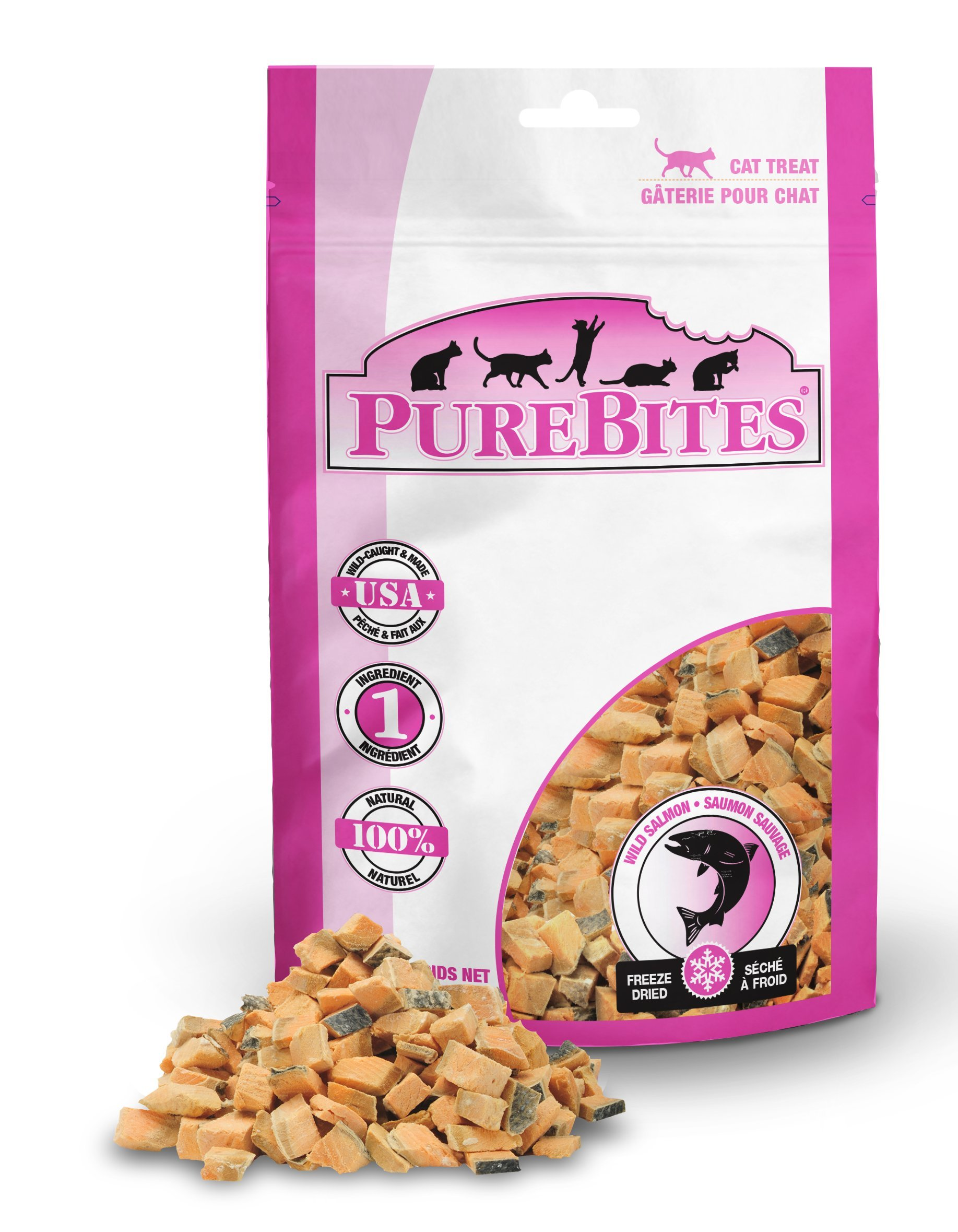 Purebites Salmon For Cats, 0.92Oz / 26G - Value Size, 14 Pack by PureBites