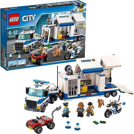LEGO60139CityCentrodeControlMóvil,JuguetedeConstrucciónconCamión,Coche,MotoyMiniFigurasparaNiñosa Partir de 6&nbs