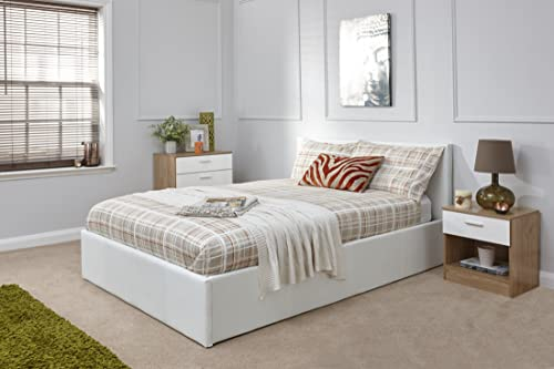 Ottoman King Size Storage Bed Upholstered In Faux Leather