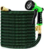 """hblife 50ft Garden Hose, All New 2020 Expandable Water Hose with 3/4"""" Solid Brass Fittings, Extra Strength Fabric…"""