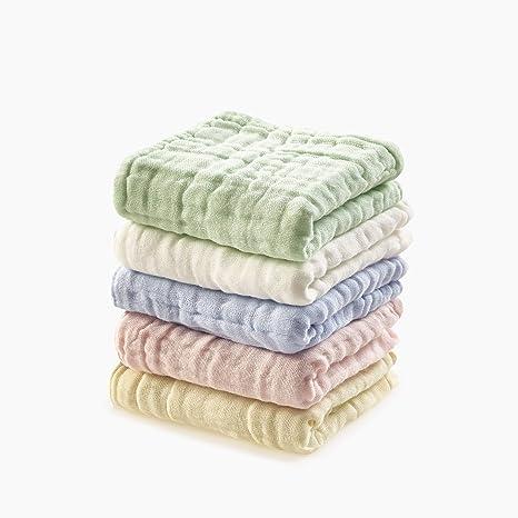 Toalla para bebé de muselina, algodón natural de muselina, toalla para la cara del