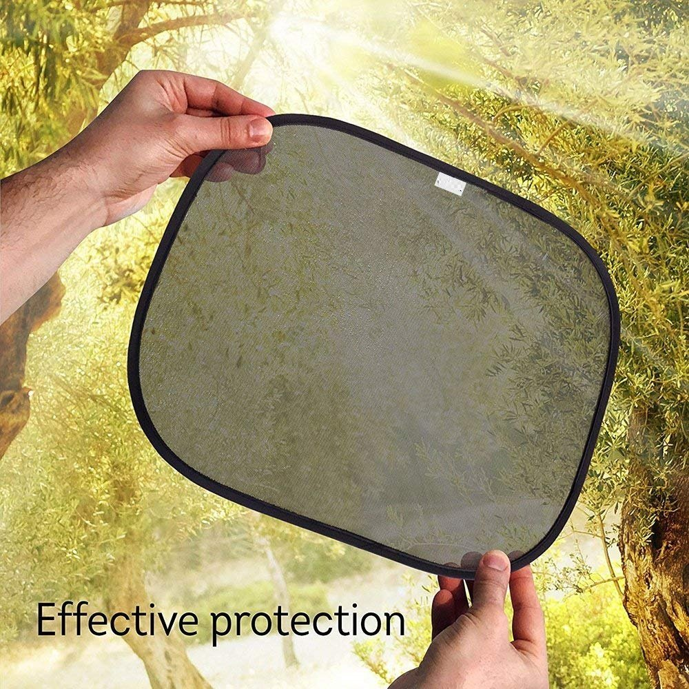50 x 30 cm Car Window Sun Shades Universal Fit Premium Baby Car Sun Shades are Best for Blocking Over 97 Percent of Harmful UV Rays - 48 months warranty HelpAccess Germany Set of 4 pcs