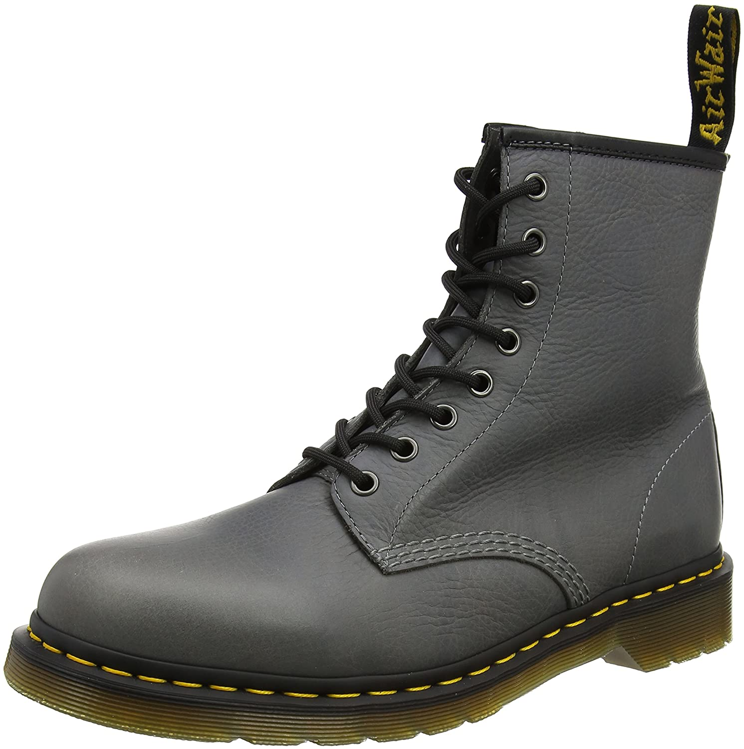 Dr. Martens Men's 1460 Combat Boot, 8.5 B(M) US Women/7.5 D(M) US Men B01ICEIK5W 12 UK/13 M US|Titanium