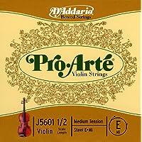 D'Addario Pro-Arte Violin Single E String Medium Tension 1/2 Scale 1/2 Size
