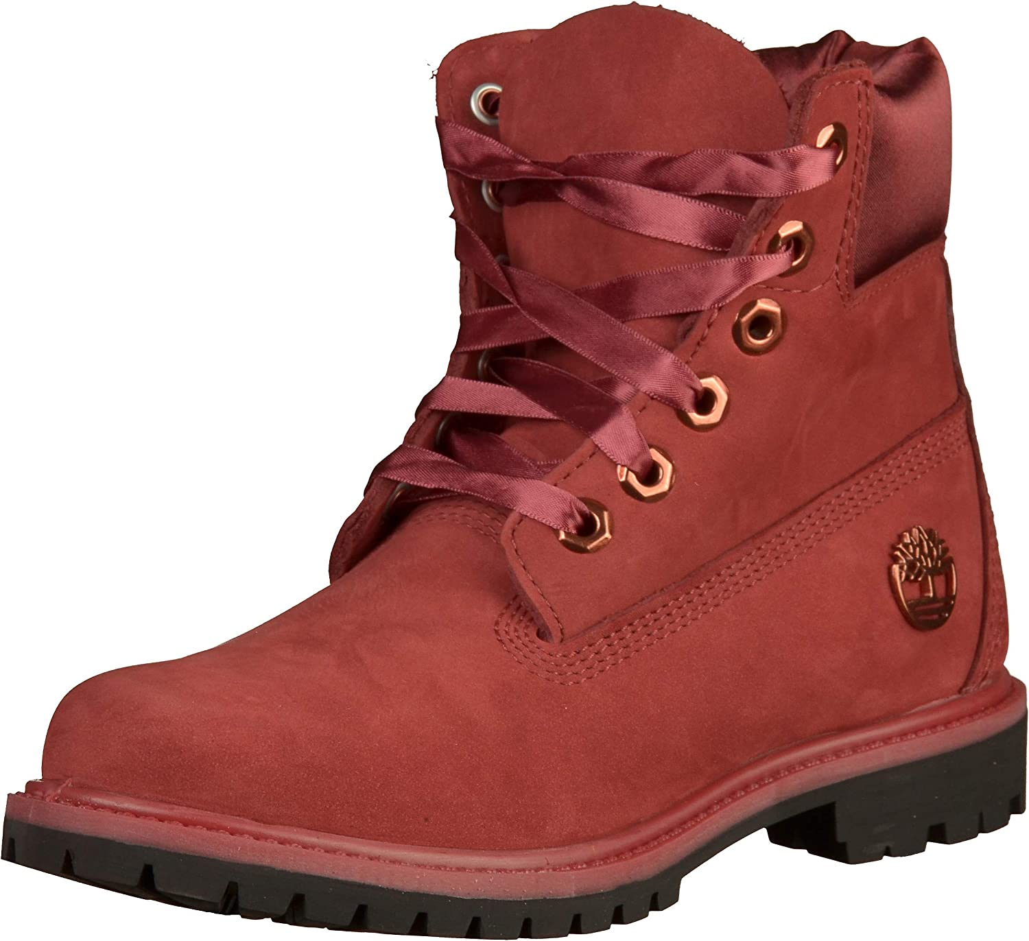 Timberland A1SC7 6po Premium Rouge Chaussures Femme Chaussures Cuir Nubuck