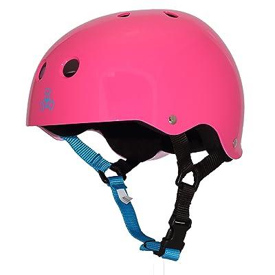 Triple Eight Sweatsaver Liner Skateboarding Helmet, Neon Fuschia Glossy, X-Small : Sports & Outdoors