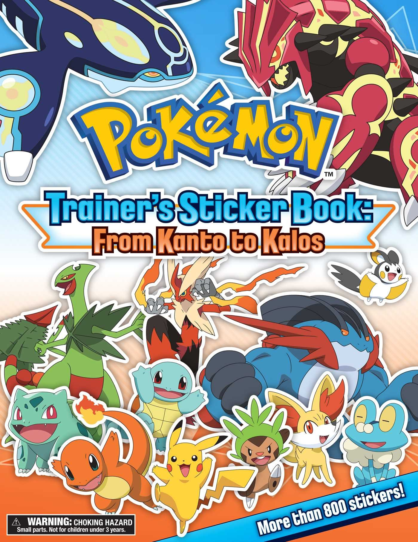Pokemon kanto coloring pages - Amazon Com Pok Mon Trainer S Sticker Book From Kanto To Kalos 9781604381863 Pikachu Press Books