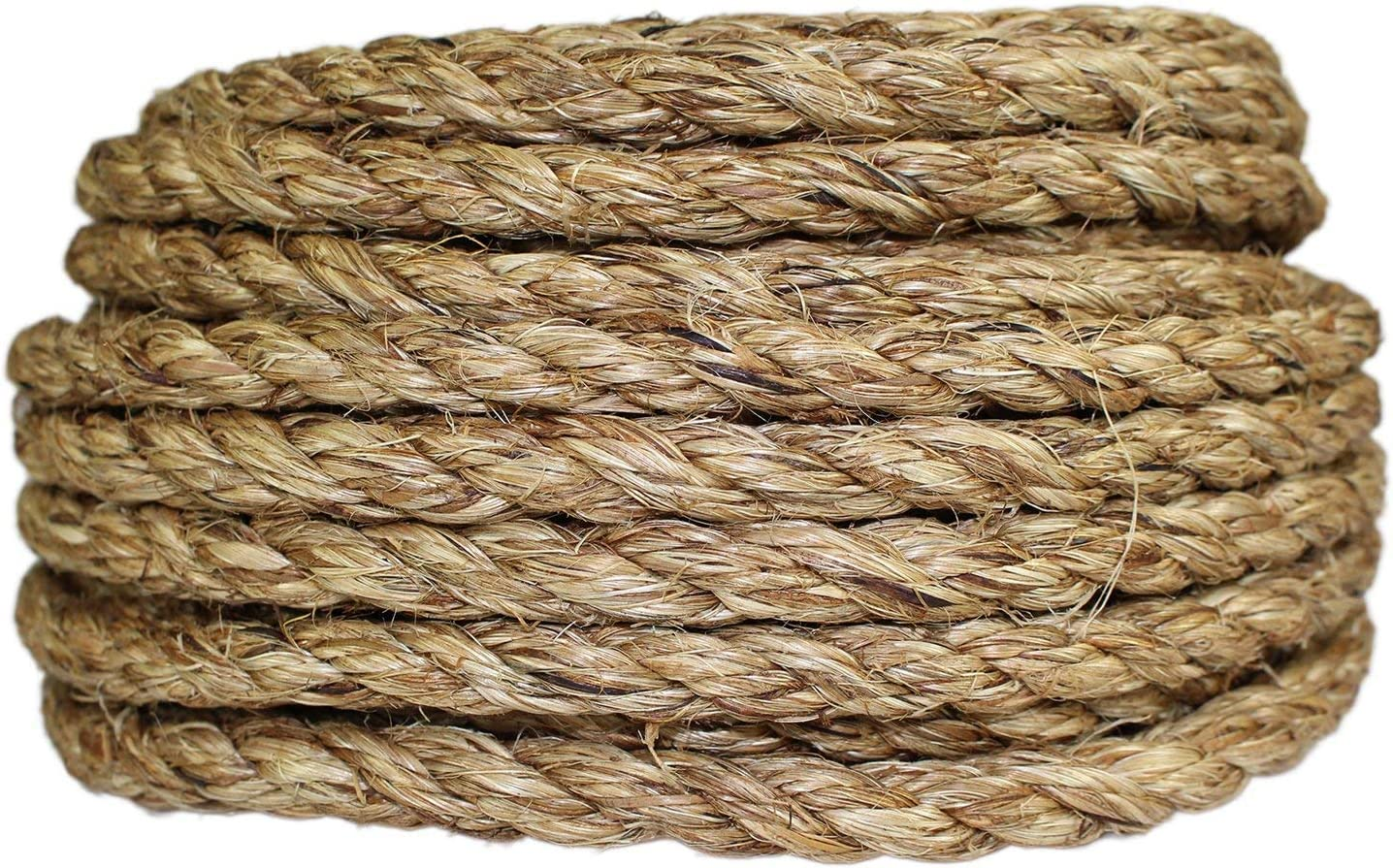 Industrial Wire Rope 3 Strand Twisted Manila Fiber Rope 5//8 5//8 x 25
