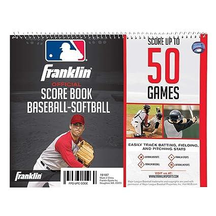 Amazon Com Franklin Sports Mlb Baseball Softball Scorebook Coach