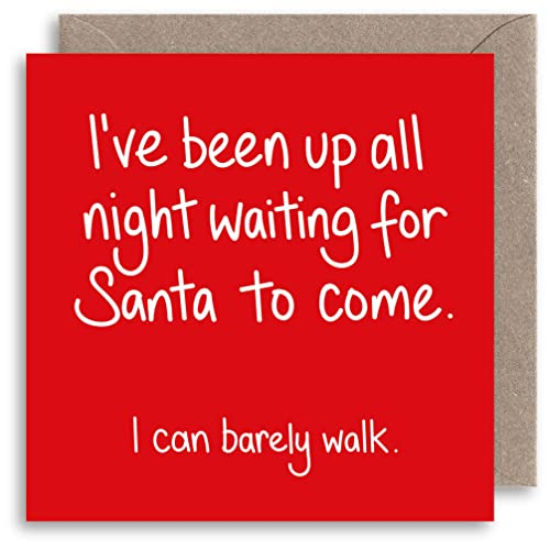 funny rude christmas card naughty santa joke christmas card humour xmas card alternative