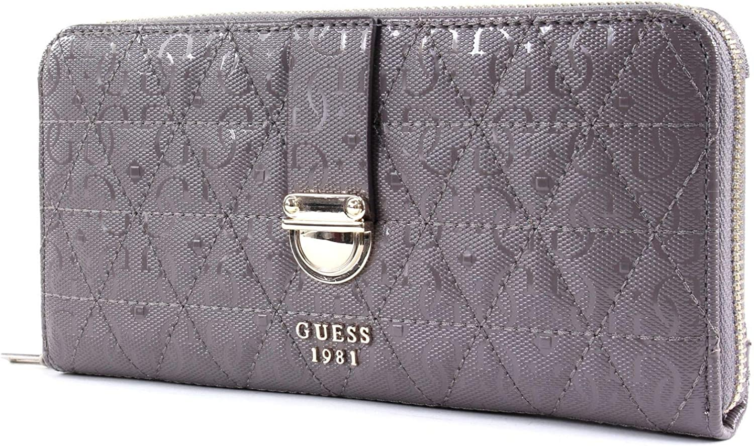 Guess Tabbi SLG Large Zip Around Taupe: : Schuhe