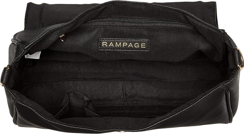 Rampage Womens Whipstitch Satchel
