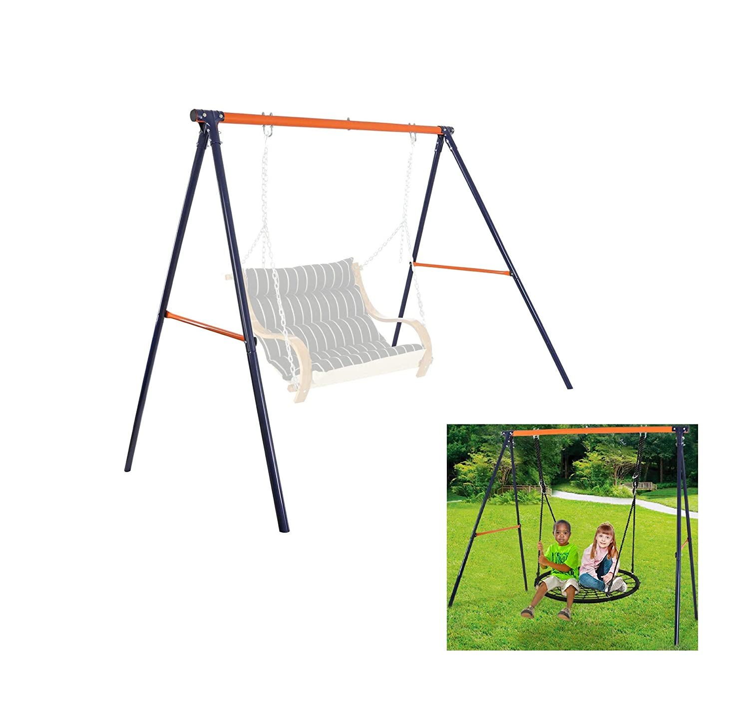 Amazing Metal Swing Safety Kit Frame Stand Fun Party Play Chair Kids Gamerscity Chair Design For Home Gamerscityorg