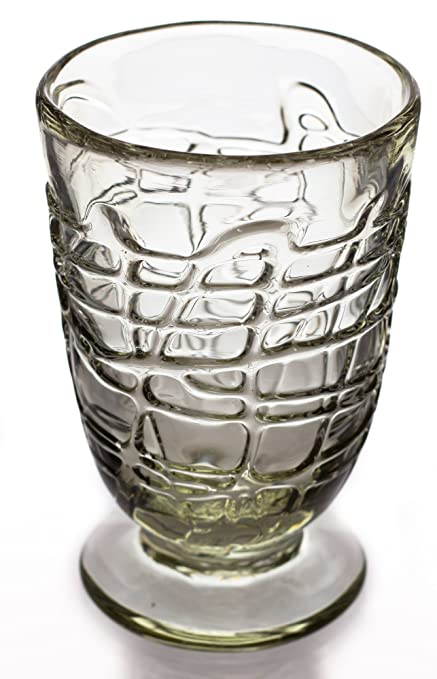 Cónica de cristal con base, Loco, mano soplado de vidrio reciclado – disponible por