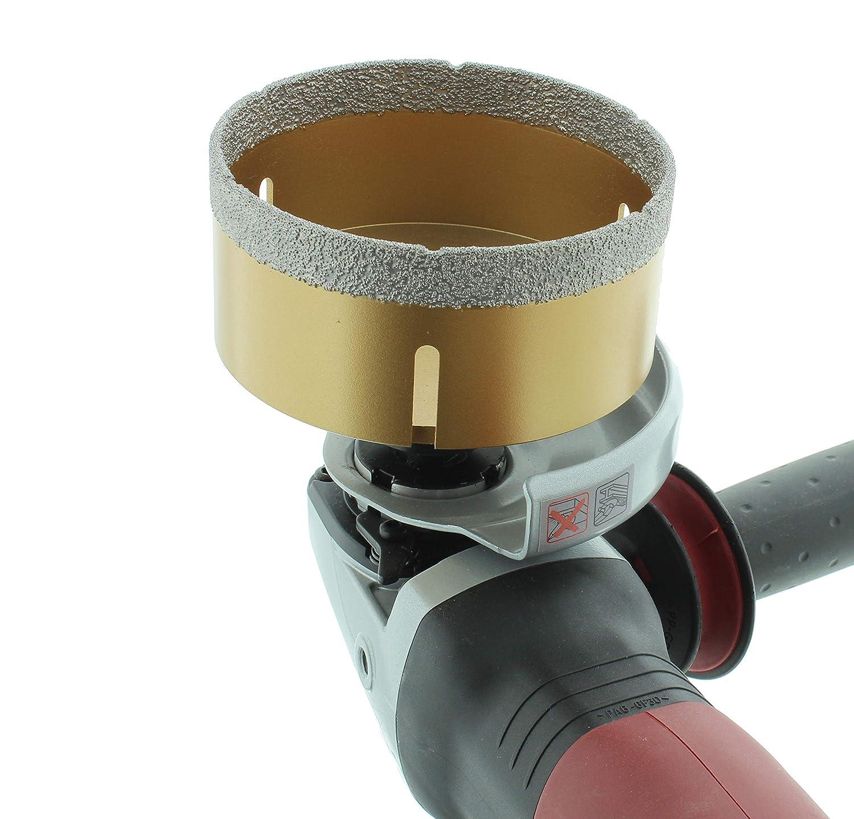 M14-Fliesenbohrkrone Feinsteinzeug Diamant-Bohrkrone passend f/ür Winkelschleifer BTEC 22 mm