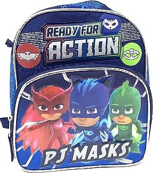 PJ Masks Catboy Gekko Owlette - Mochila Infantil (25,4 cm, Lista para la acción)