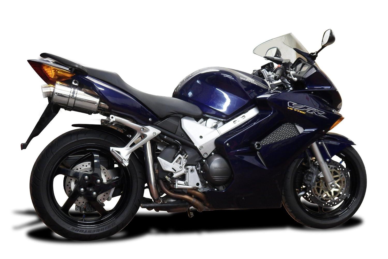 """Honda VFR800 V-Tec 9/"""" Stainless Oval Muffler Exhaust 02 03 04 05 06 07 08 09"""