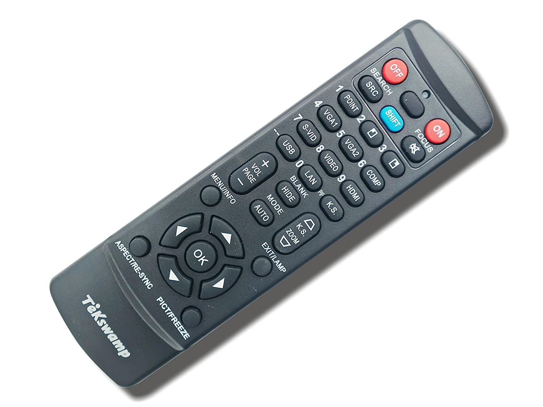 デジタル投影m-vision Cine 230-hc 1.56 – 1.86 tekswampビデオプロジェクタリモートコントロール  ブラック B07DHQM4RL