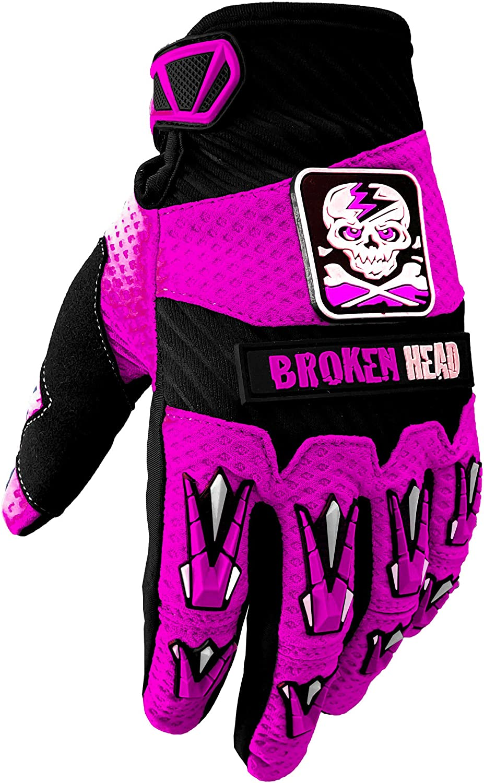 Enduro Pink Motorrad-Handschuhe F/ür Motocross Gr/ö/ße XS Mountainbike Broken Head MX-Handschuhe Faustschlag