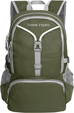 travel inspira 35L Lightweight Foldable Backpack Water Resistant Packable  Sports Casual for Outdoor Camping Hiking Cycling 256dac09e90e4
