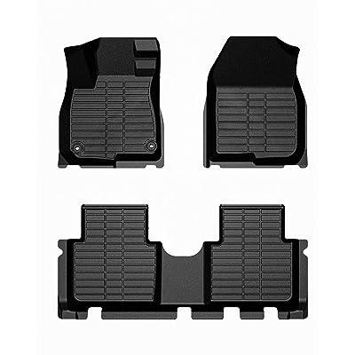 All Weather Floor Mats for 2020 2020 2020 2020 Honda CR-V Floor Mats Floor Liner, 2 Row Set: Automotive