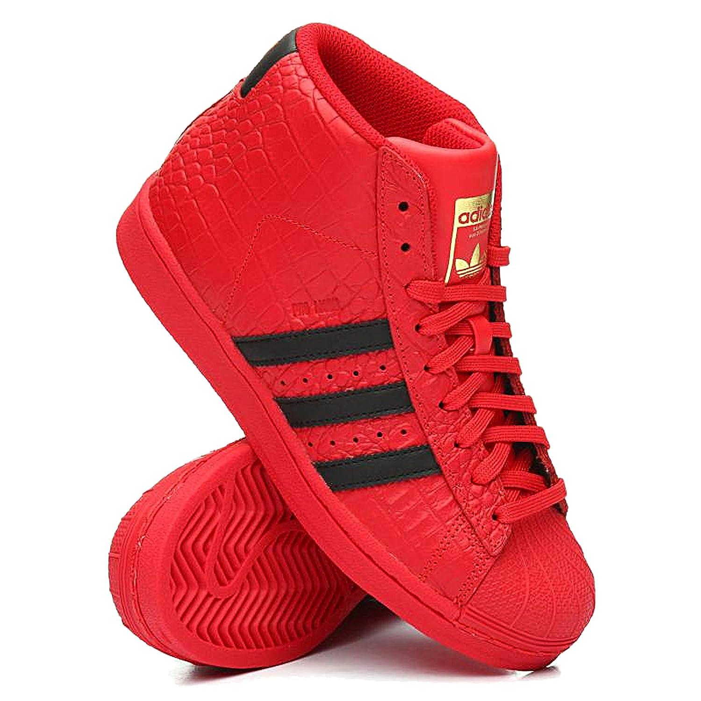 TOMATO Red  Amazon.com Adidas Big Kids Pro Model Sneaker Sneakers ... 2dc69582f