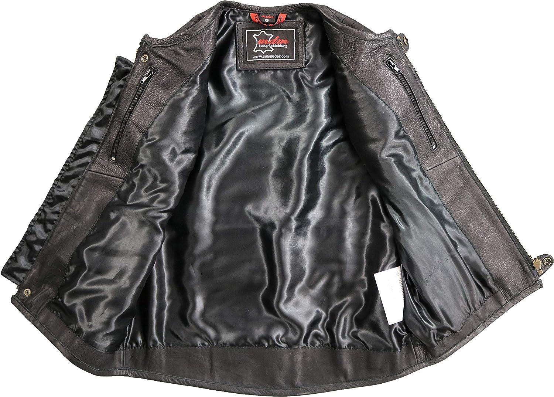 MDM Rei/ßverschluss Motorradweste aus echtem Leder