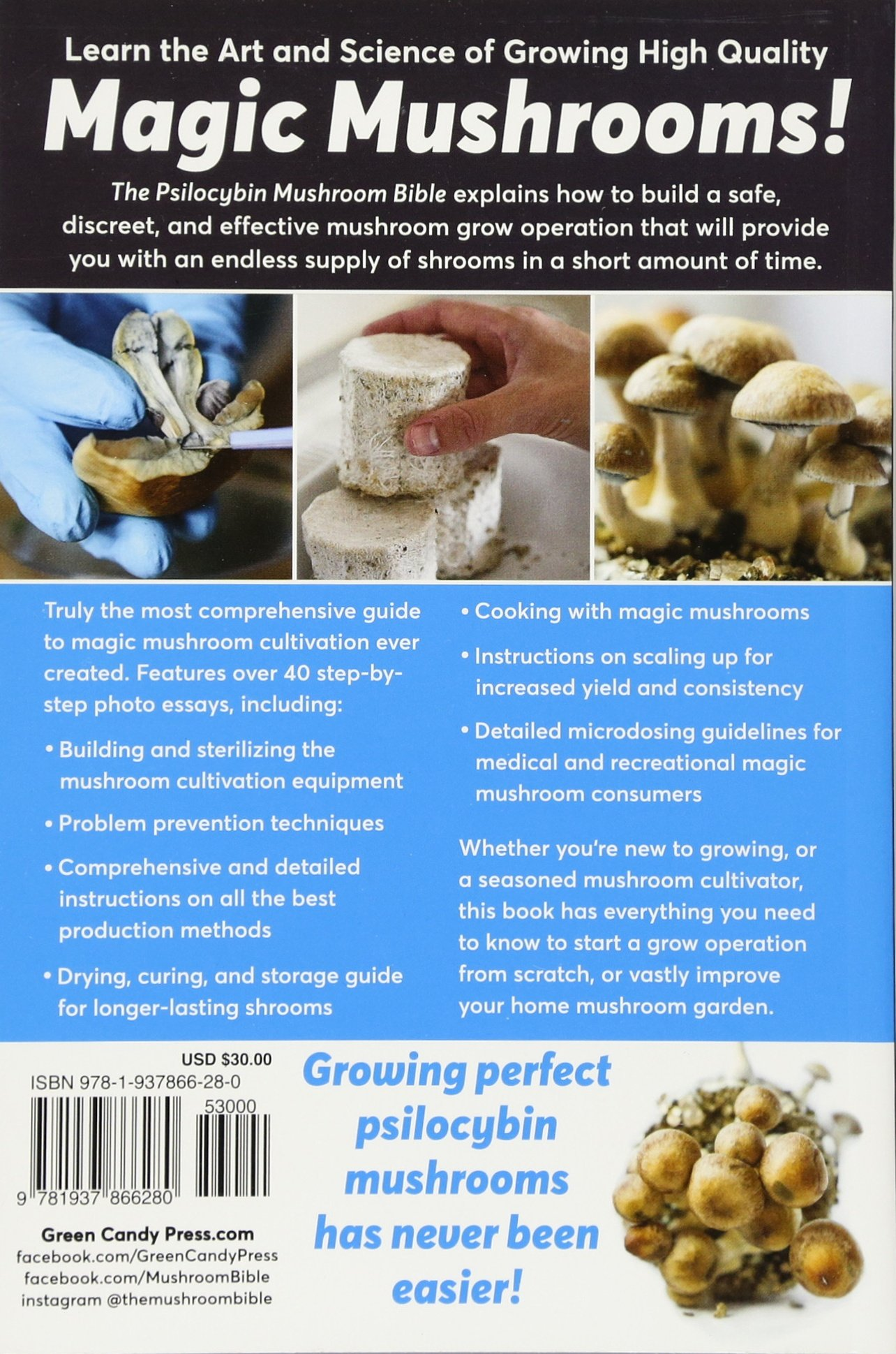The Psilocybin Mushroom Bible: The Definitive Guide to Growing and