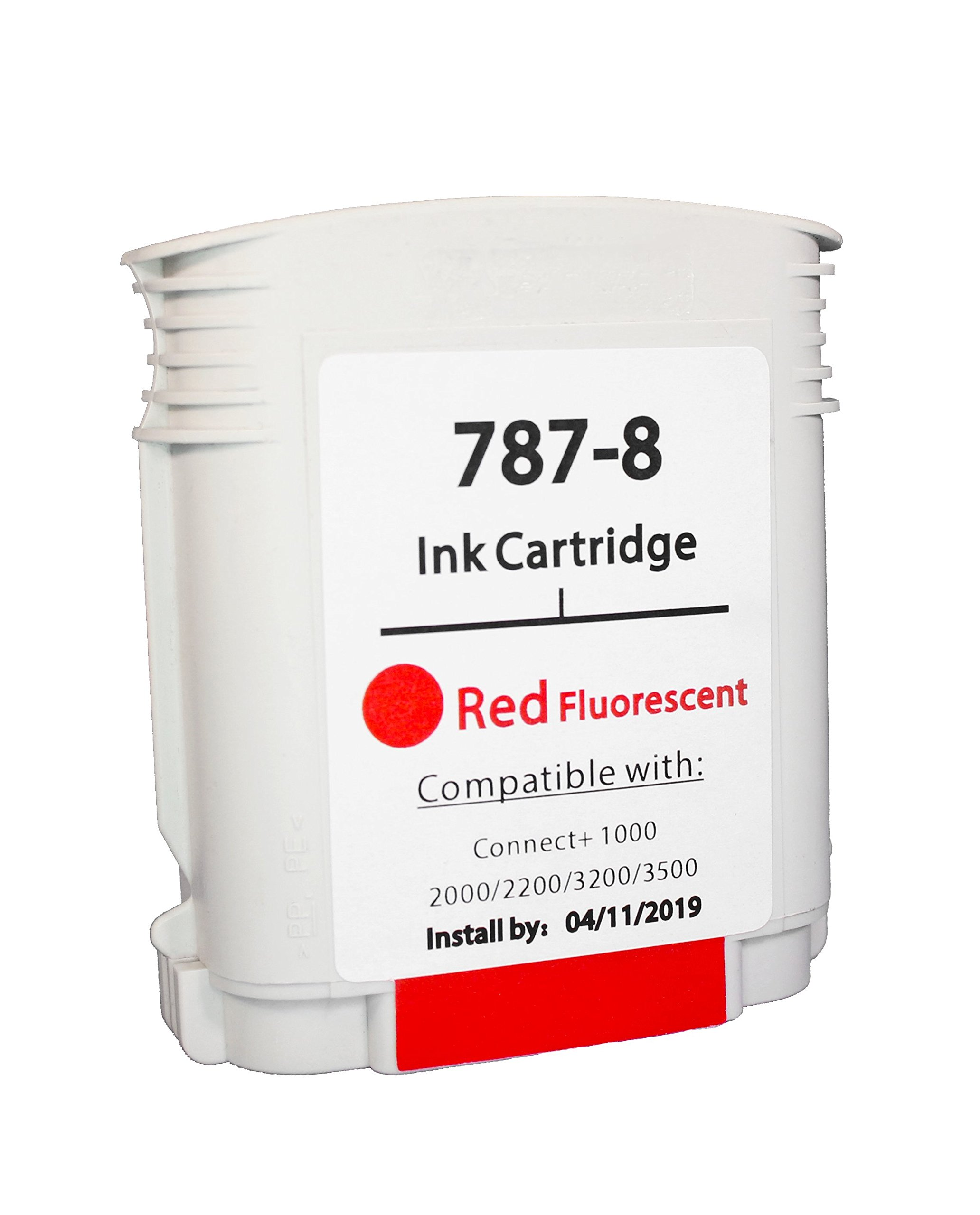 Pitney Bowes Compatible 787-8 Red Ink Cartridge for Connect+ Series Mailing Machine by Discount Supply Co.