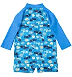 ATTRACO Little Boys Long Sleeve Swim Shirts Zipper