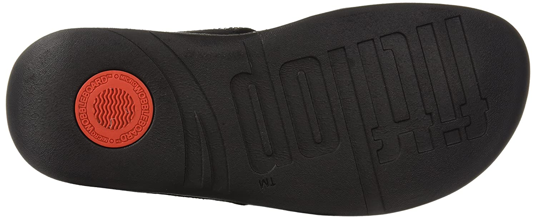 FitFlop Women's Flare 6 Strobe Slide Sandal B0799C431K 6 Flare B(M) US|Black bda970
