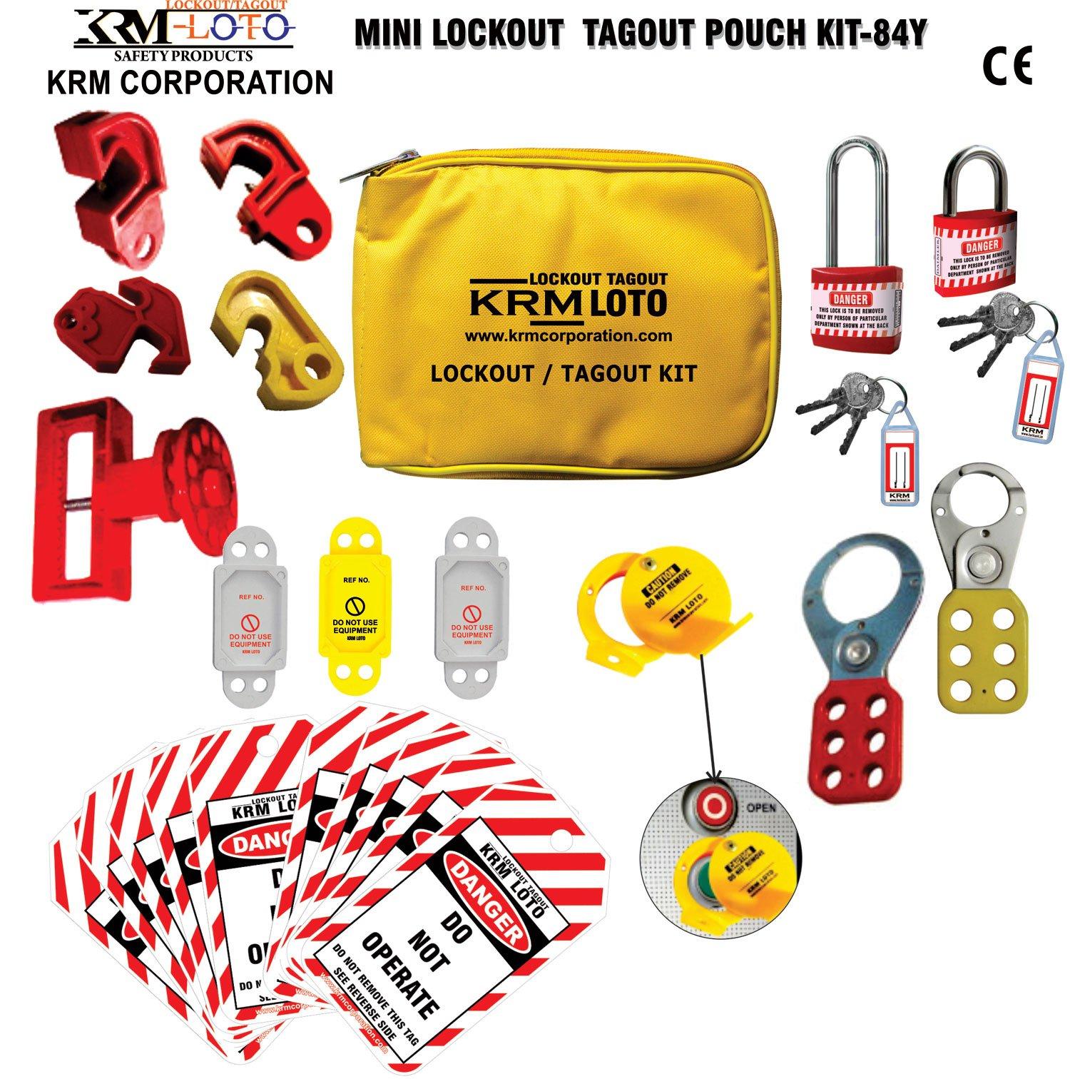 Mini Lockout Tagout Pouch Kit- 84 Y