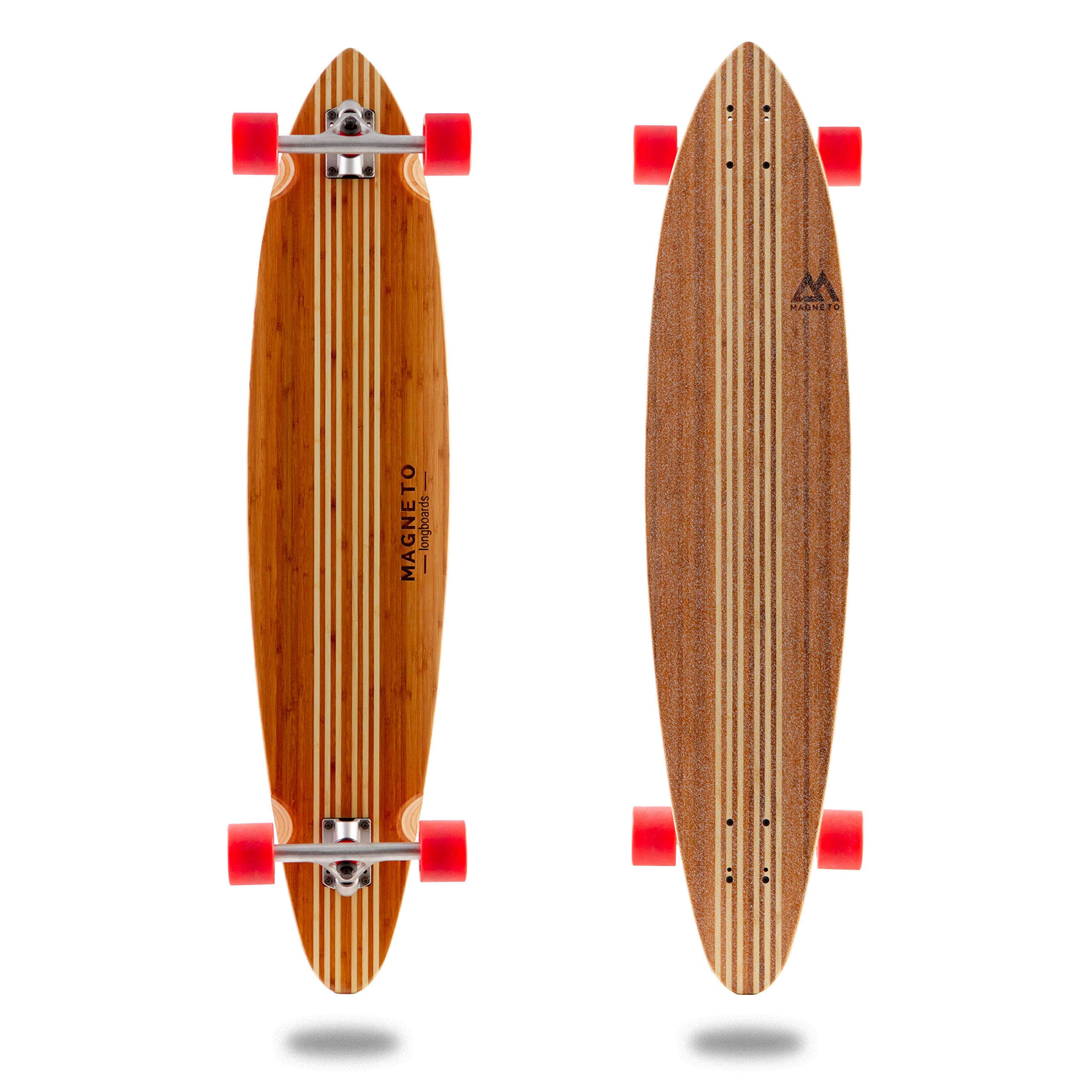 Hana Longboard Collection | 42 inch Longboard Skateboards | Bamboo with Hard Maple Core | Cruising, Carving, Dancing, Freestyle (Pintail) by Magneto (Image #1)