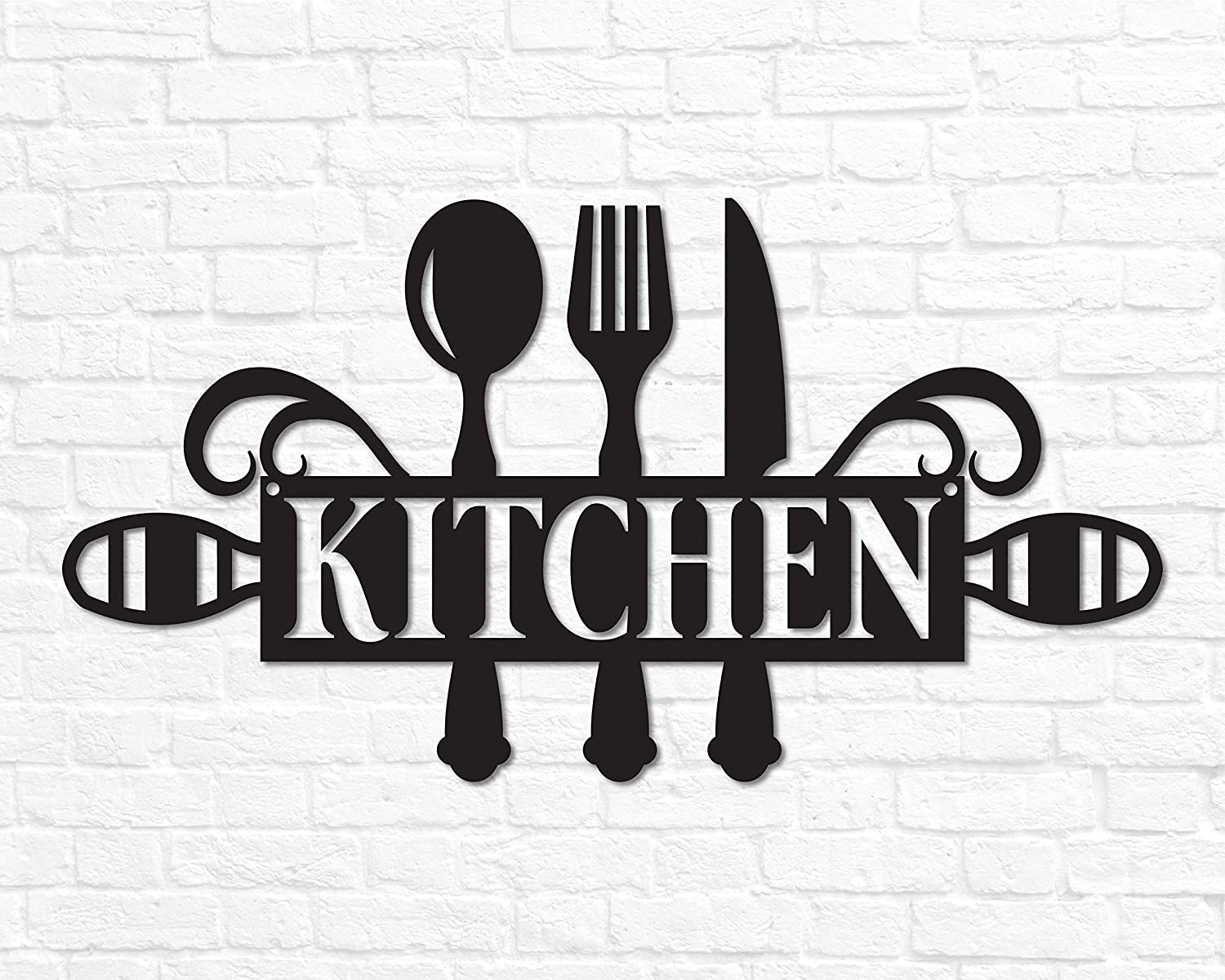 Metal Kitchen Sign Decor Wall Art Word Gift Cooking Housewarming Signs Plaques Handmade Products