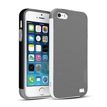 HanLuckyStars Funda iPhone TPU Funda Carcasa para iPhone SE/5s/5, iPhone 5S Funda con [Ultra Fina][Anti-Arañazos][Anti-Choques][Garantía de por ...