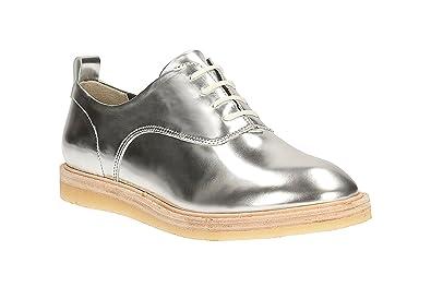 e3aa7f8493 Clarks Damen Originals Kaiserin Lo Leder Schuhe in Silber: Amazon.de ...
