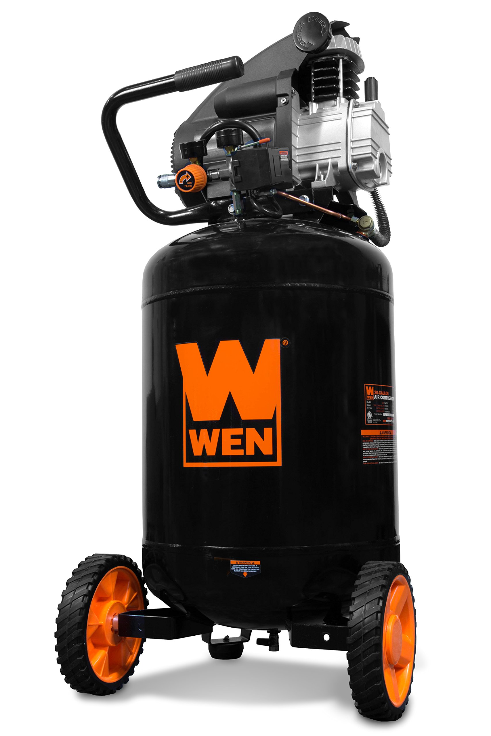 WEN 2202 20-Gallon Oil-Lubricated Portable Vertical Air Compressor by WEN