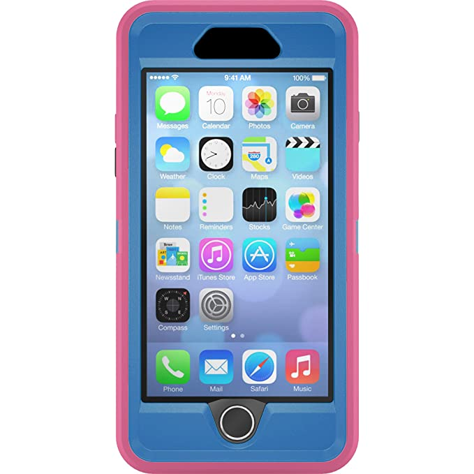 promo code 0210c bccaf iPhone 6s Case - OtterBox Defender Series Case for Apple iPhone 6/6s (Case  Only - Holster NOT Included) (Pink - Blue)