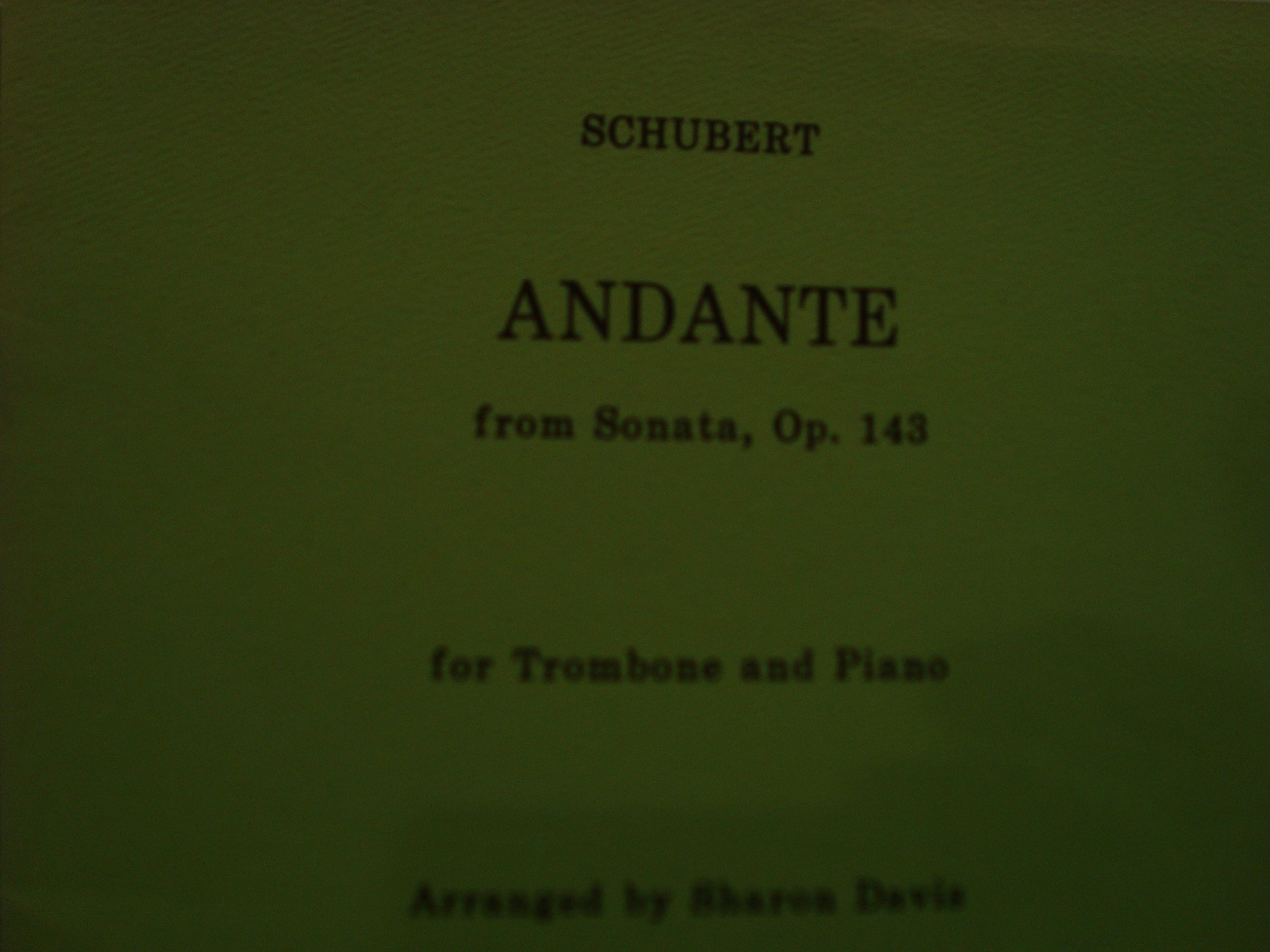 Andante From Sonata, Op.143 / Schubert / for Trombone and Piano